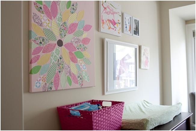 Diy Wall Art For Nursery : Diy flower wall art nursery decor themotherboards