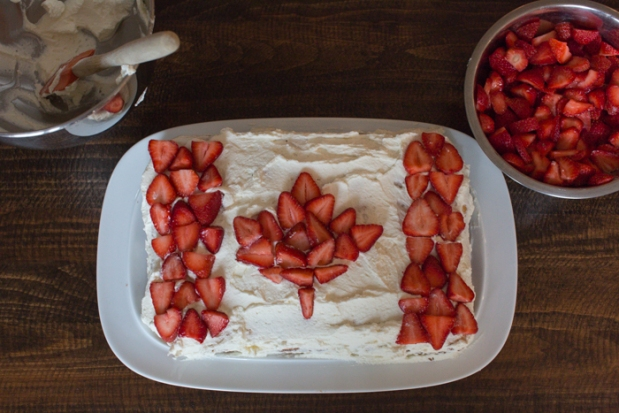 Canada Day Flag Cake