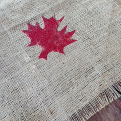 canada day stamped runner