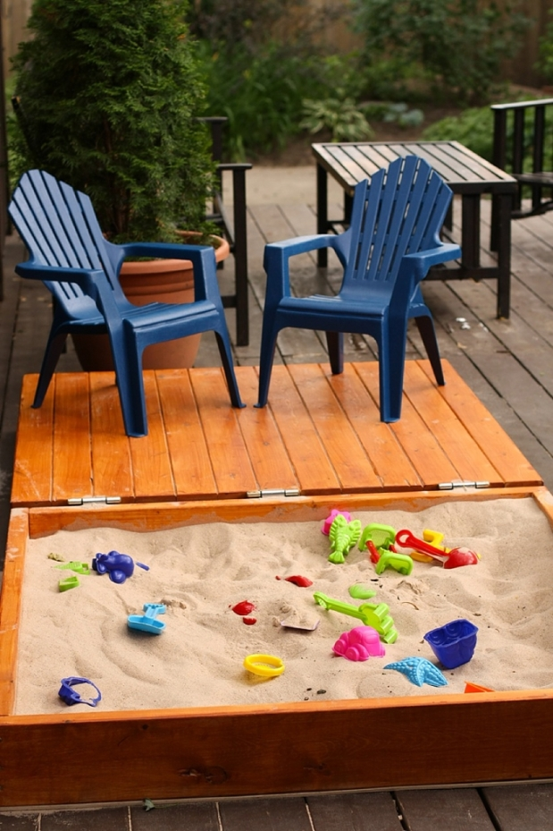 DIY Wooden Sandbox 2