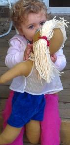 outside doll kiss