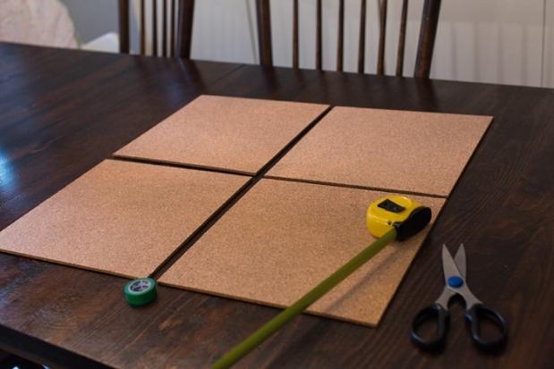 DIY Pinboard Painted Herringbone_0001