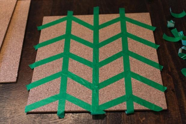 DIY Pinboard Painted Herringbone_0003
