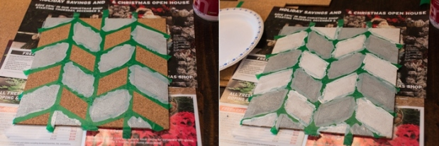 DIY Pinboard Painted Herringbone_0004