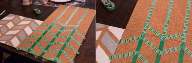 DIY Pinboard Painted Herringbone_0005