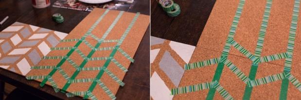 DIY Pinboard Painted Herringbone_0005