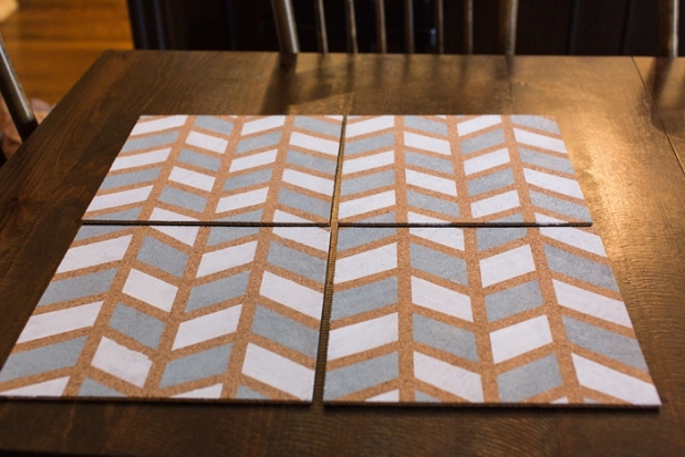 DIY Pinboard Painted Herringbone_0006