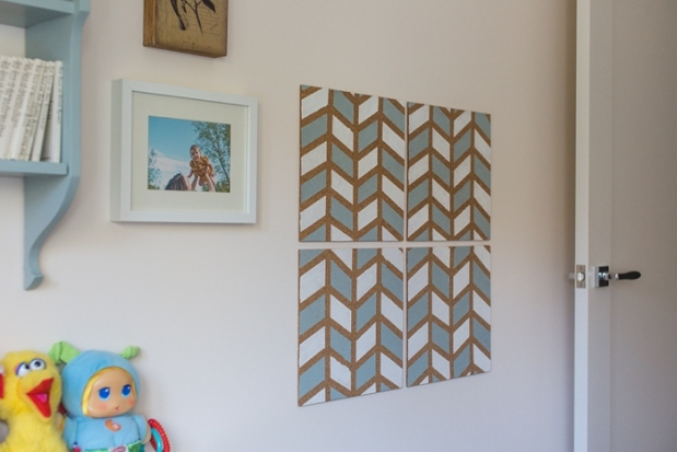 DIY Pinboard Painted Herringbone_0011