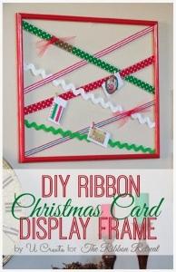 DIY Ribbon Christmas Card Display Frame_thumb[2]