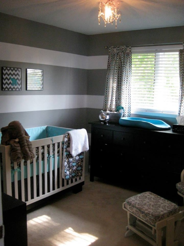 Grey & White Elephant Nursery_0002