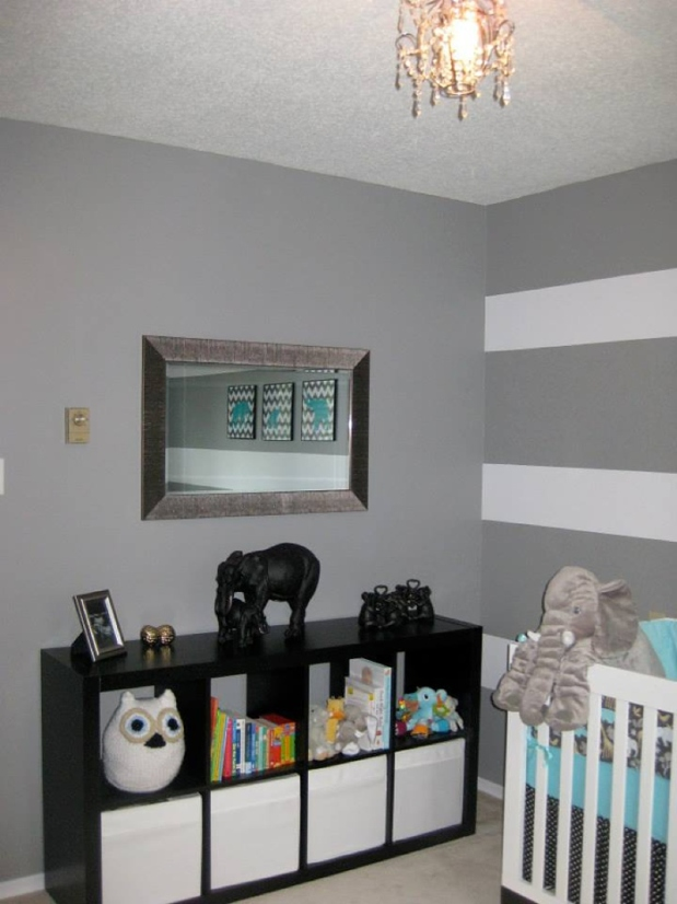 Grey & White Elephant Nursery_0004