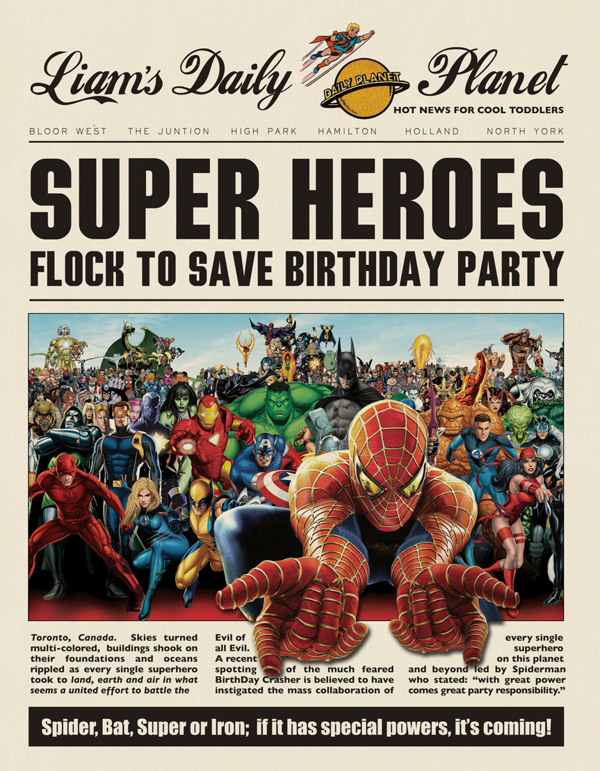 a superhero birthday party | part 1: save the day! | themotherboards