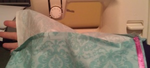 sewn overlap
