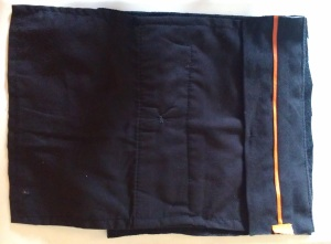 folded inside-out, pocket side
