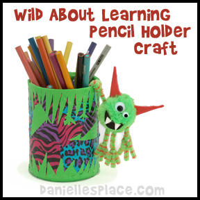 Wild-about-school-pencil-holder