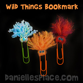 wild-thing-paper-clip-bookmark-craft