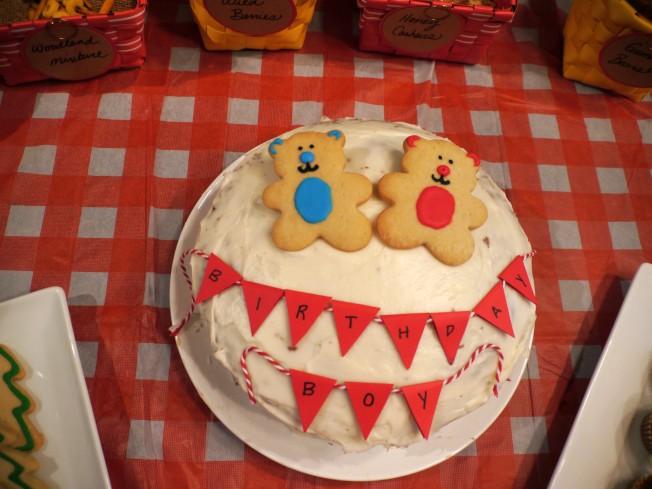 Birthday Boy Bear Cake