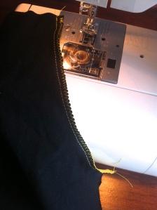 Shorts stitched