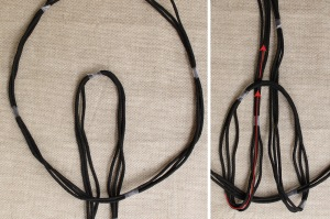 braided cord necklace step 3