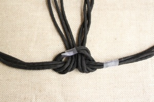 braided cord necklace step 3b