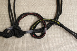 braided cord necklace step 4