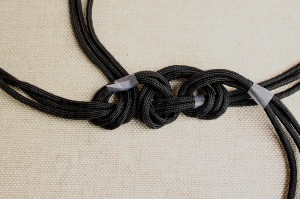 braided cord necklace step 4b