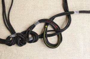 braided cord necklace step 5