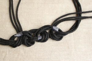 braided cord necklace step 5b