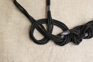 braided cord necklace step 6