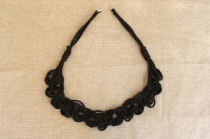 braided cord necklace step 10
