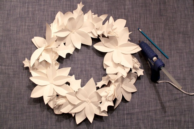 holiday wreath_step7