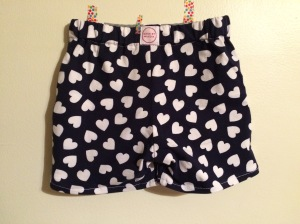 Heart Shorts Back
