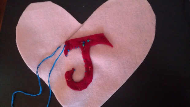 sewing letter - *